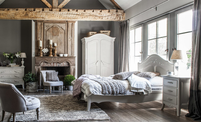 Ambiance Chambre shabby-chic-style-bedroom