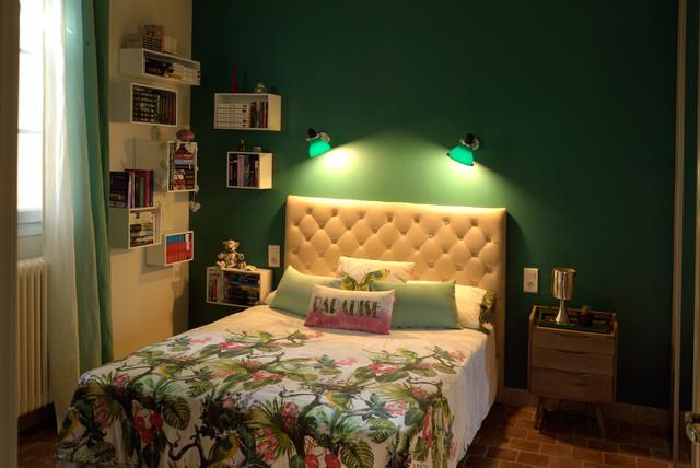 Ambiance verte pour une chambre d 39 ado aux accents r tros - Ambiance chambre ado ...