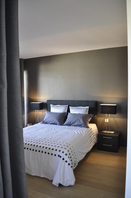 Appartement au chic parisien chambre for Chambre contemporaine chic