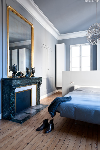 appartement de type haussmannien contemporain chambre. Black Bedroom Furniture Sets. Home Design Ideas
