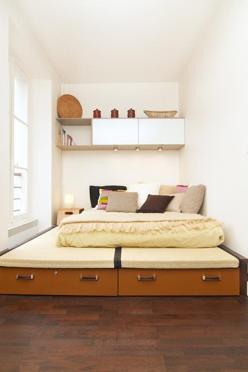 La cama como espacio de almacenamiento: ¿es una buena idea?