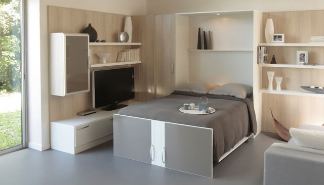 Armoire Lit Melamix - Contemporary - Bedroom - Paris - by La Maison ...