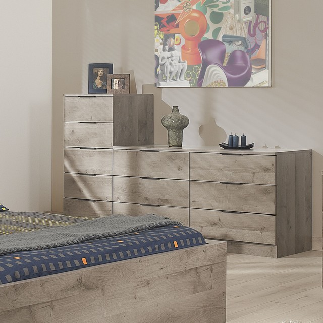brooklyn chiffonnier 5 tiroirs contemporain chambre autres p rim tres par alin a. Black Bedroom Furniture Sets. Home Design Ideas
