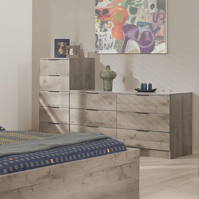 Brooklyn Chiffonnier 5 tiroirs - Contemporain - Chambre ...