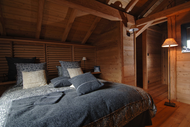 chalet maj contemporain chambre grenoble par jmv resort architectes. Black Bedroom Furniture Sets. Home Design Ideas