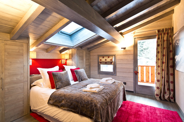 Chalet megeve in montagna camera da letto parigi for Idee di design di chalet