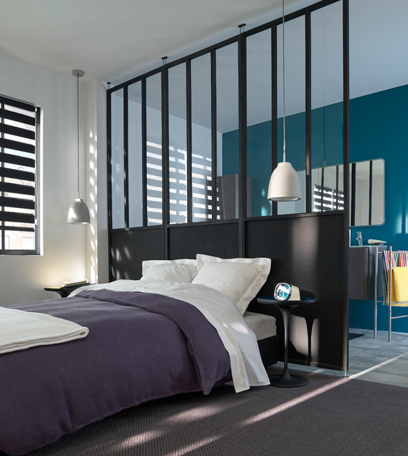 chambre atelier industriel chambre lille par castorama. Black Bedroom Furniture Sets. Home Design Ideas