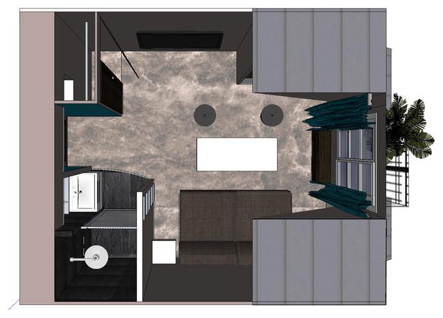 chambre de bonne r nov e en chambre d 39 h tes. Black Bedroom Furniture Sets. Home Design Ideas