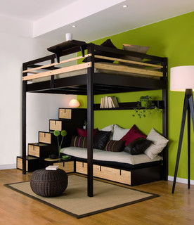 chambre et salon moderne chambre paris par espace loggia. Black Bedroom Furniture Sets. Home Design Ideas