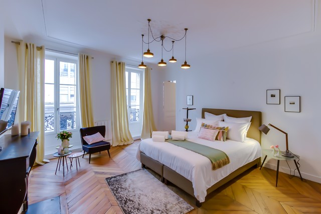 Chambre rose / verte / jaune - Scandinavian - Bedroom - Paris - by MEERO