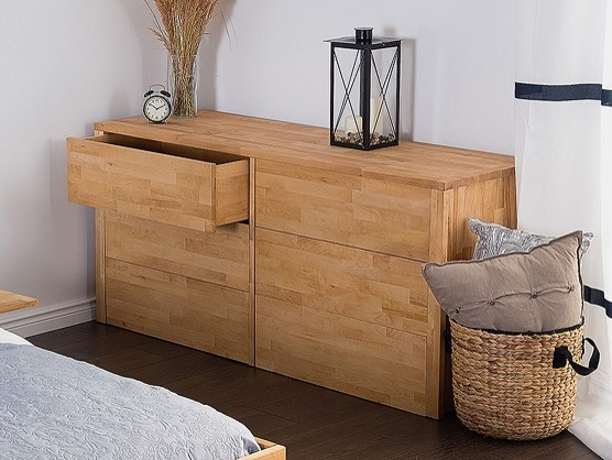 Commode en bois - armoire à 6 tiroirs CARRIS ARRAS - Modern ...
