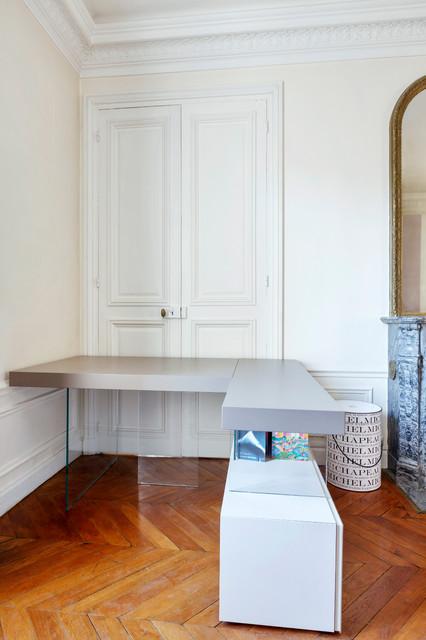 Dressing et bureau dans chambre haussmannienne modern - Dressing dans chambre mansardee ...