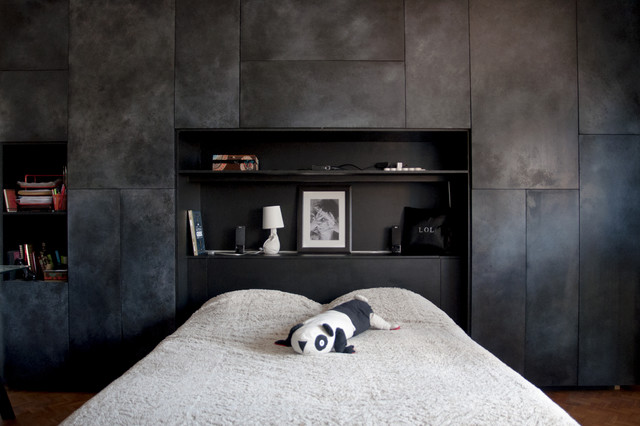 dressing t te de lit moderne chambre toulouse par atelier panel. Black Bedroom Furniture Sets. Home Design Ideas