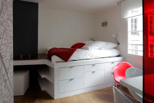 petite chambre des id es simples pour optimiser l espace femme actuelle. Black Bedroom Furniture Sets. Home Design Ideas