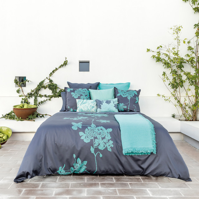 housse de couette vert mint et bleu batik chic moderne chambre lyon par ksl living. Black Bedroom Furniture Sets. Home Design Ideas