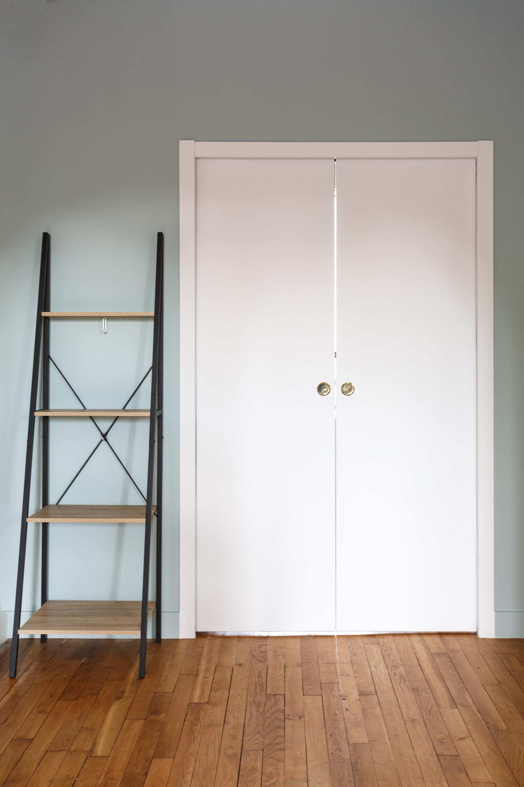 Installation d'une double porte coulissante