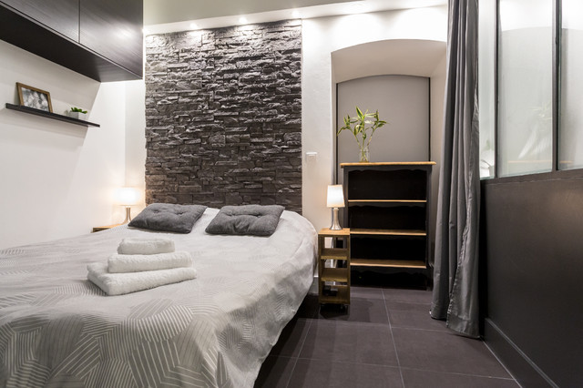 loft design contemporary bedroom nice by franck minieri photographer. Black Bedroom Furniture Sets. Home Design Ideas