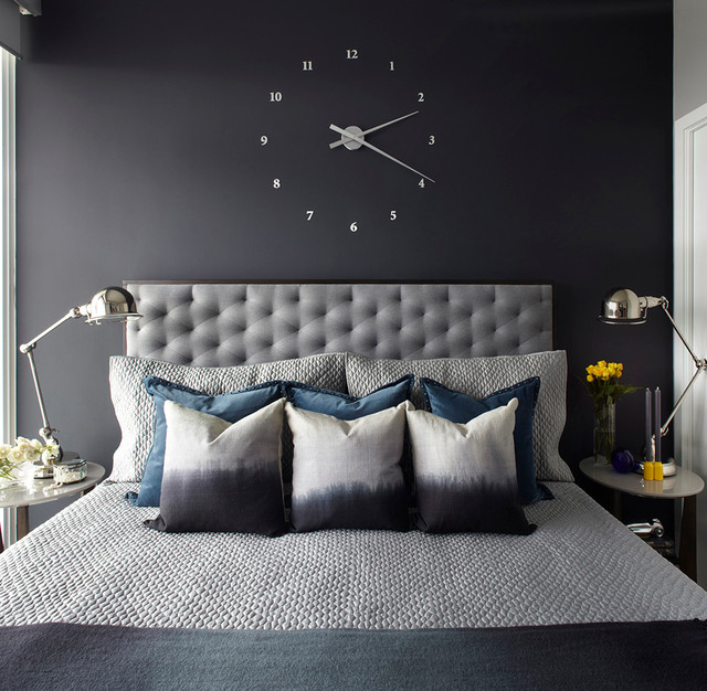 Deco Chambre Garcon Gris Jaune : Market Wharf Condo  Transitional  Bedroom  Toronto  by ANNA DUVAL [R
