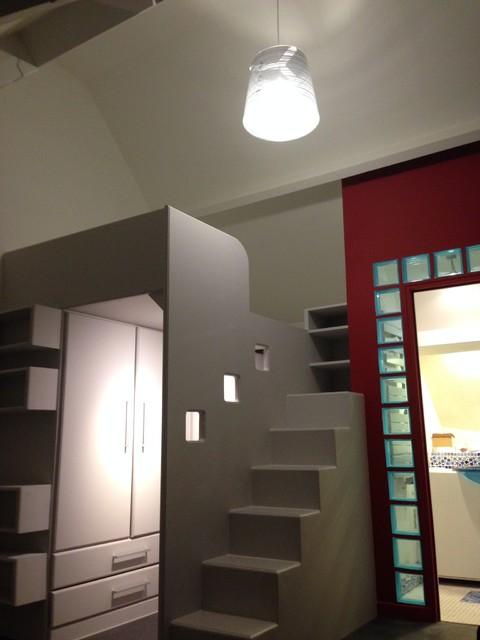 mezzanine sur mesure contemporain chambre - Mezzanine Sur Mesure