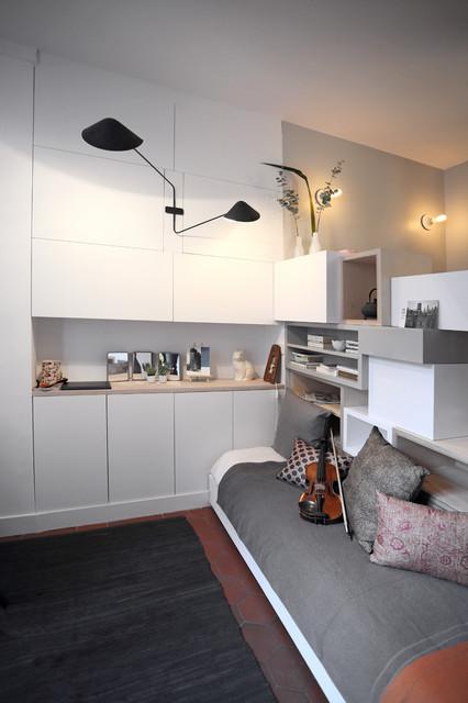 Mini Studio Et Pans De Bois Contemporain Chambre Paris Par