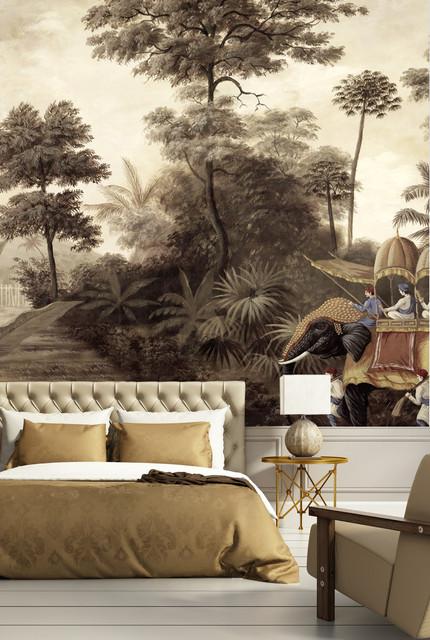 Nos décors mis en scène - Exotique - Chambre - Bordeaux - par Ananbô - Papier peint panoramique