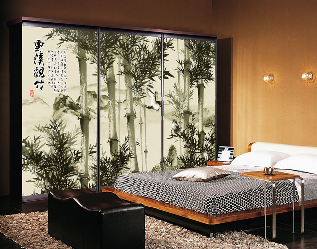 papier peint chinois les bambous. Black Bedroom Furniture Sets. Home Design Ideas