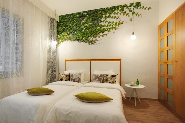 Papier peint sur mesure contemporain chambre paris - Papier peint trompe l oeil pour chambre adulte ...