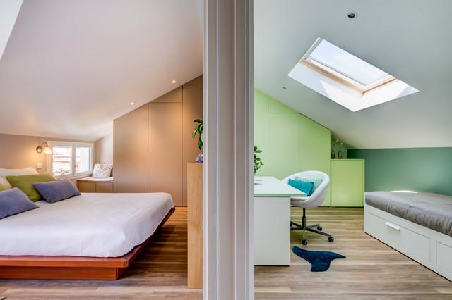 Soulsens architecture intérieure · architectes dintérieur pièces sous rampants contemporain chambre
