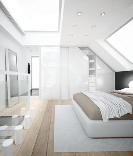 porte de placard coulissante pan coup moderne chambre le havre par coulidoor. Black Bedroom Furniture Sets. Home Design Ideas