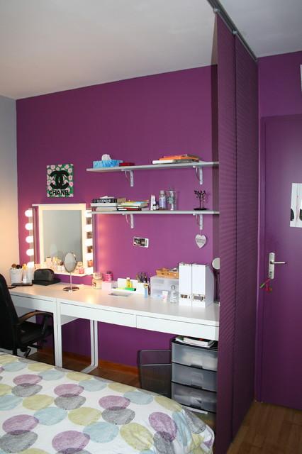 Relooking d 39 une chambre d 39 ado contemporary bedroom - Relooking chambre ado ...