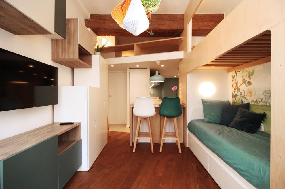 Rénovation colorée d'un appartement
