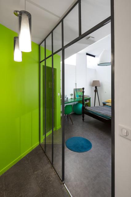 renovation d 39 un appartement de caractere contemporain chambre clermont ferrand par. Black Bedroom Furniture Sets. Home Design Ideas