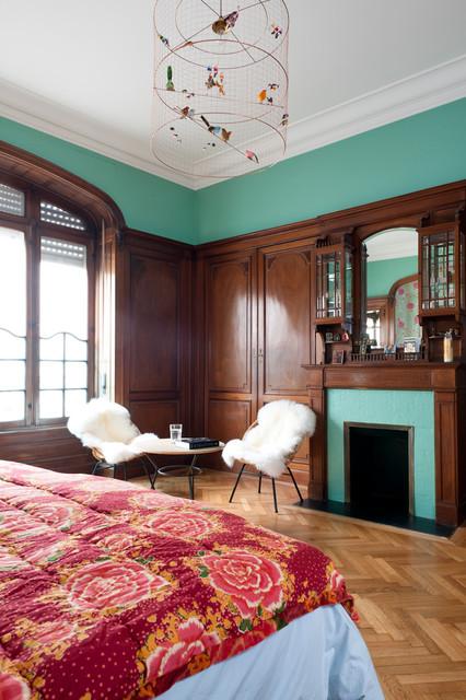 r novation d 39 un appartement haussmannien craftsman chambre bordeaux par fusion d. Black Bedroom Furniture Sets. Home Design Ideas