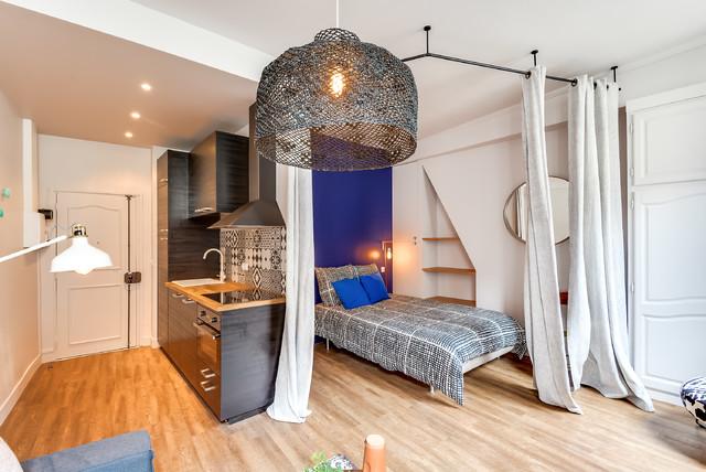 Rénovation d\'un studio de 25m2 dans le Marais - Modern ...