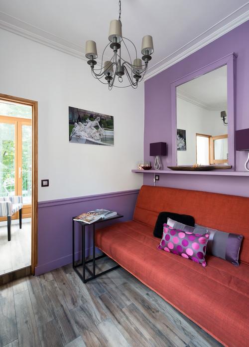 Studio- chambre colorée