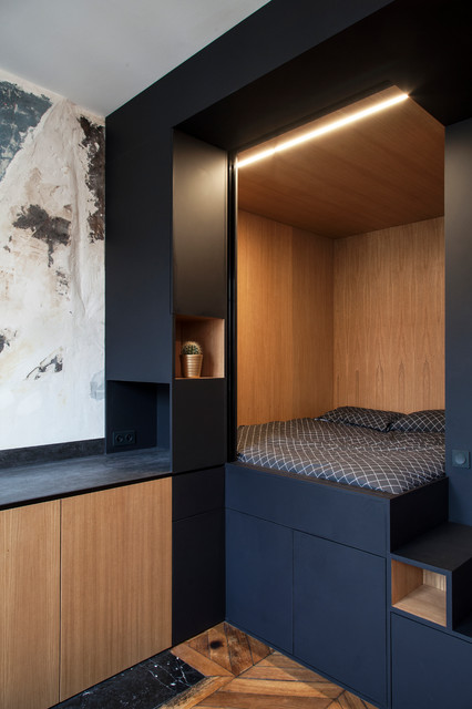 studio strasbourg saint denis contemporary bedroom paris by bertrand fompeyrine photographe. Black Bedroom Furniture Sets. Home Design Ideas