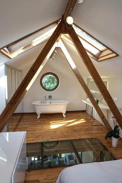 suite parentale avec salle de bain contemporain chambre paris par fables de murs. Black Bedroom Furniture Sets. Home Design Ideas