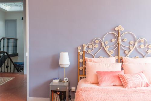chambre bleu paon