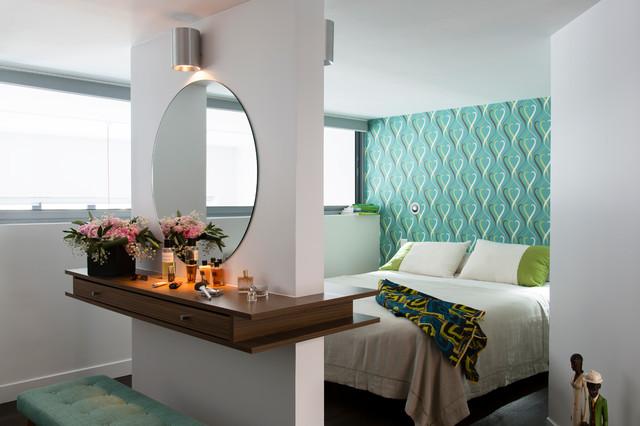 voir grand contemporary bedroom paris by elodie sagot. Black Bedroom Furniture Sets. Home Design Ideas