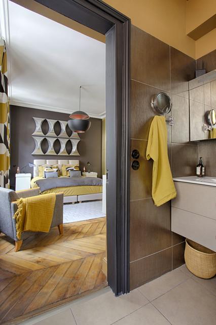 Vue de la salle de bain eclectique-chambre