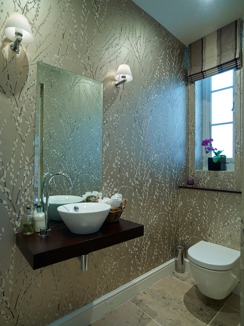 Ashley Gardens Contemporary Cloakroom London By Design Support Ltd