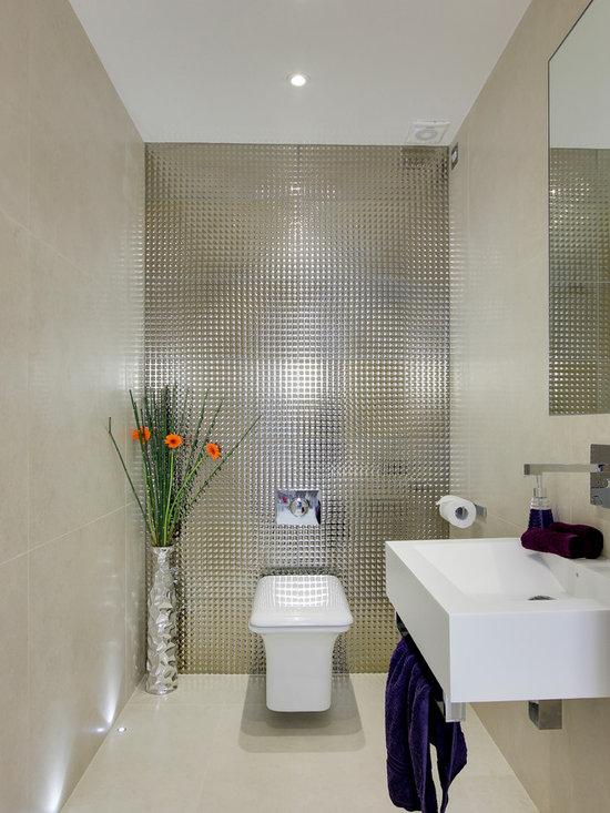 Contemporary Powder Room Bath Design Ideas Pictures Remodel Decor