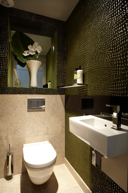 Clapham Family Home Contemporary Powder Room London