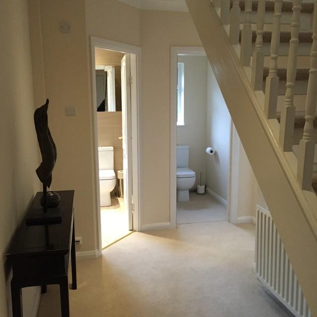 Ground floor cloakroom installation and hallway decoration ...