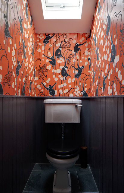 London Fields House eclectic-powder-room