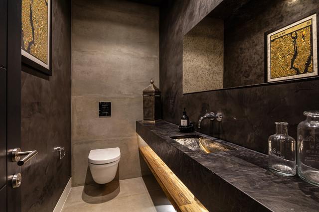 New SW18 house mediterranean-powder-room