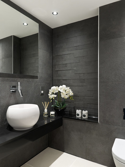Decorating bedroom ideas on a budget - Park Road Contemporary Powder Room Surrey By Concept Interiors
