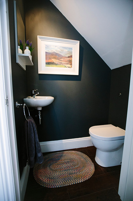 Under Stairs Toilet - Contemporary - Powder Room - London ...