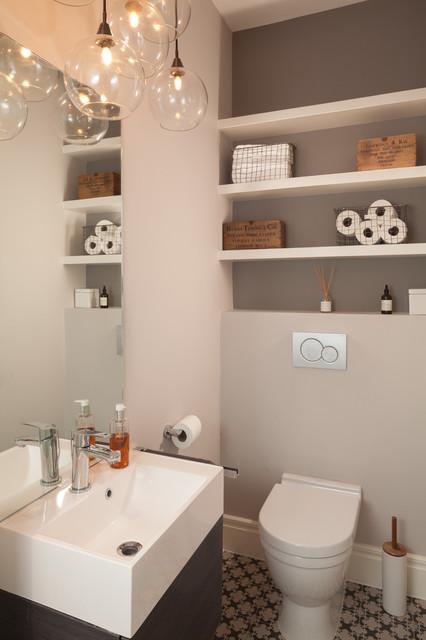 Wandsworth Basement Conversion コンテンポラリー-トイレ洗面所