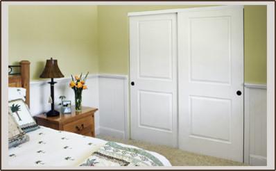 Nice 2 Panel Bypass Closet Doors Modern Closet